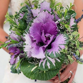 Букет Невесты С Брассикой фото