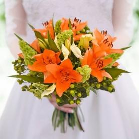 """Букет Невесты """"Оранжевый Микс"""" фото"""