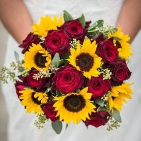 """Букет Невесты """"Подсолнухи и Роза"""" фото"""