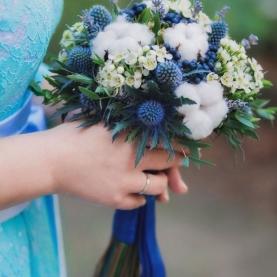 """Букет Невесты """"Синие Ленты""""  фото"""