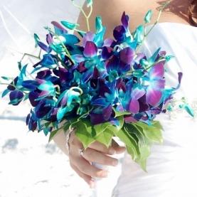 """Букет Невесты """"Синяя Орхидея"""" фото"""