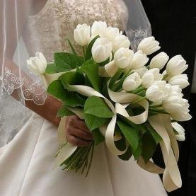 """Букет Невесты """"Белые Тюльпаны"""" фото"""