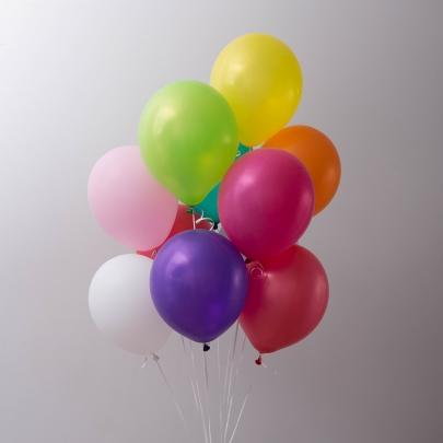 10 Разноцветных Воздушных Шаров фото