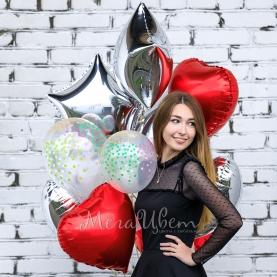 10 воздушных шаров С Днем Рождения фото