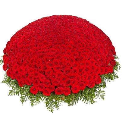1001 Красная Роза (50 см.) в корзине фото