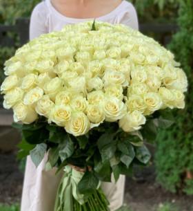 101 Белая Роза (80 см.)