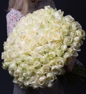 101 Белая Роза (50 см.)