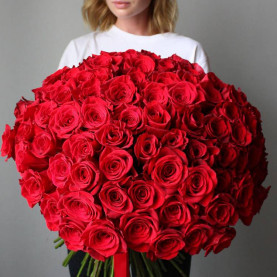 101 Красная Роза (80 см.)