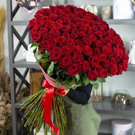101 Красная Роза (90 см.) фото