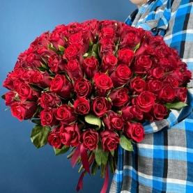 101 Красная Роза Кения (50 см.) фото
