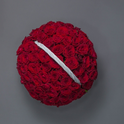 101 Красная Роза в корзине