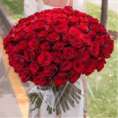 101 Красная Роза Эквадор (50/60 см.) фото