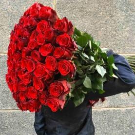 101 Красная Роза (100 см.)