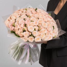 101 Кустовая Пионовидная Кремовая Роза (50 см.) фото