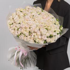 101 Кустовая Пионовидная Сиреневая Роза (50 см.) фото