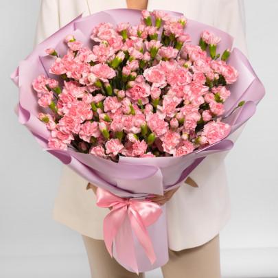 101 Кустовая Розовая Гвоздика фото