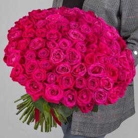 101 Малиновая Роза (50 см.) фото