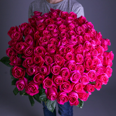 101 Малиновая Роза (60 см.) фото