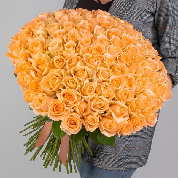 101 Персиковая Роза (50 см.)