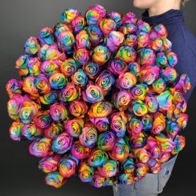 101 Радужная Роза (70 см.)