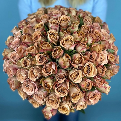 101 Коричневая Роза (40 см.) фото