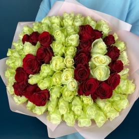 101 Роза Цифры (40 см.) фото