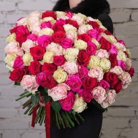 101 Разноцветная Роза (60 см.)