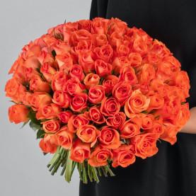 101 Ярко-Оранжевая Роза (40 см.) фото