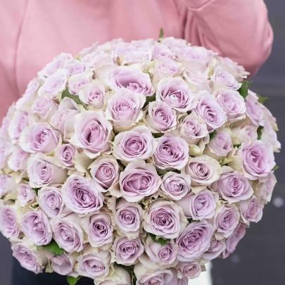 101 Роза сиреневая (40 см) фото