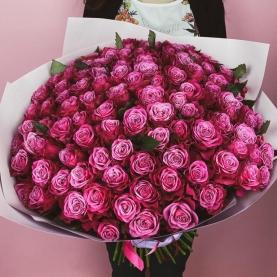 101 Роза Deep Purpule (50/60 см.) фото