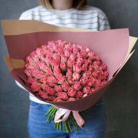 101 Розовая Роза (40 см.)