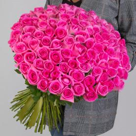 101 Ярко-Розовая Роза (50 см.) фото