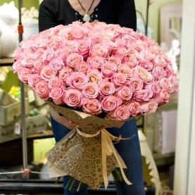 101 Розовая Роза Premium (50/60 см.) фото