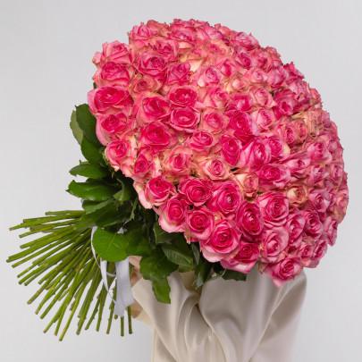 101 Розовая Роза (60 см.) фото
