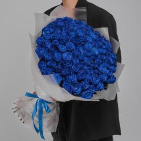101 Синяя Роза (70 см.) фото