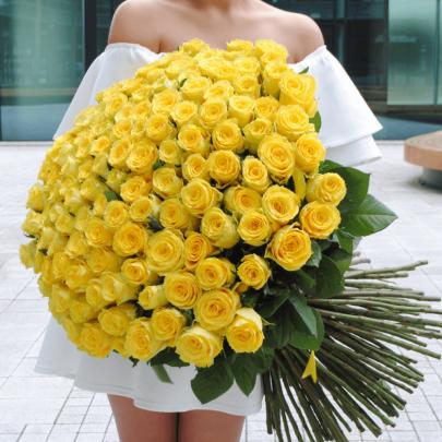 101 Желтая Роза (70 см.) фото