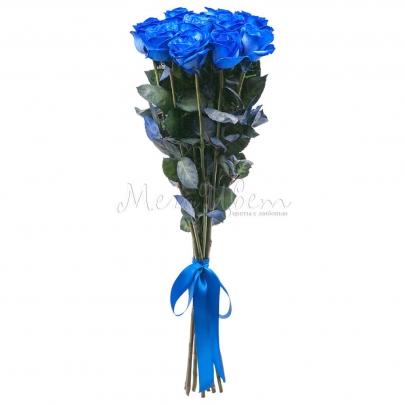 11 Синих Роз Premium (70/80 см.) фото