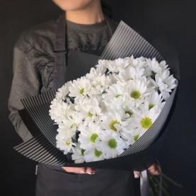 11 Белых Хризантем Кустовых фото