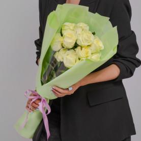 11 Белых Роз (60 см.) фото