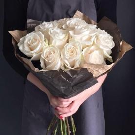 11 Белых Роз Эквадор (70/80 см.) фото