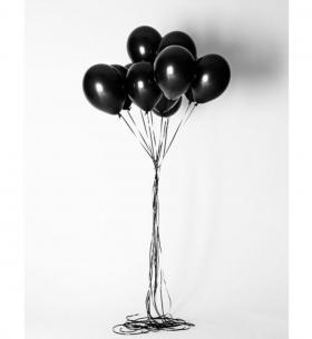 11 Черных Воздушных Шаров