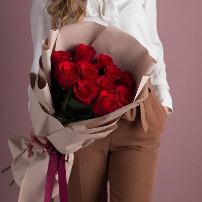 11 Красных Роз (70 см.) фото