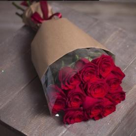 11 Красных Роз Эквадор (50/60 см.) фото