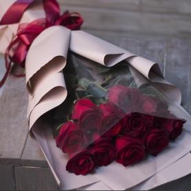 11 Красных Роз Премиум (50/60 см.) фото