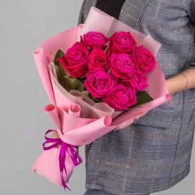 11 Малиновых Роз (50 см.) фото