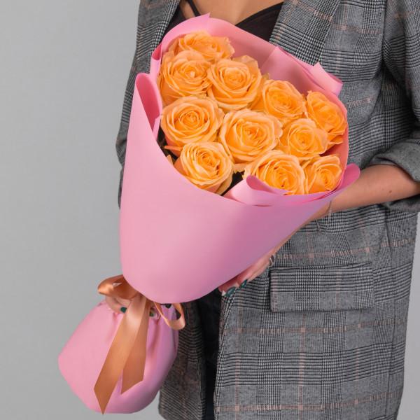 11 Персиковых Роз (50 см.)