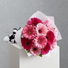 11 Розово-Малиновых Гербер фото