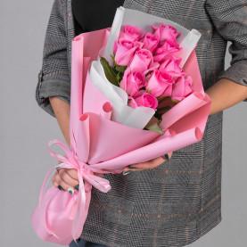 11 Розовых Роз (50 см.) фото