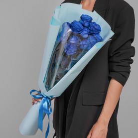 11 Синих Роз (70 см.) фото