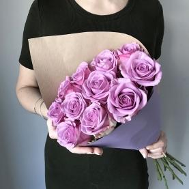 11 Сиреневых Роз Эквадор (50/60 см.) фото